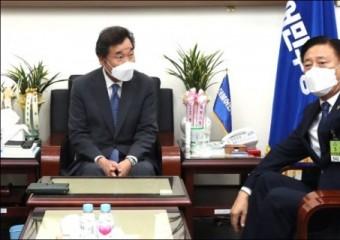 김한종 전남도의회 의장, 이낙연 더불어민주당대표 면담